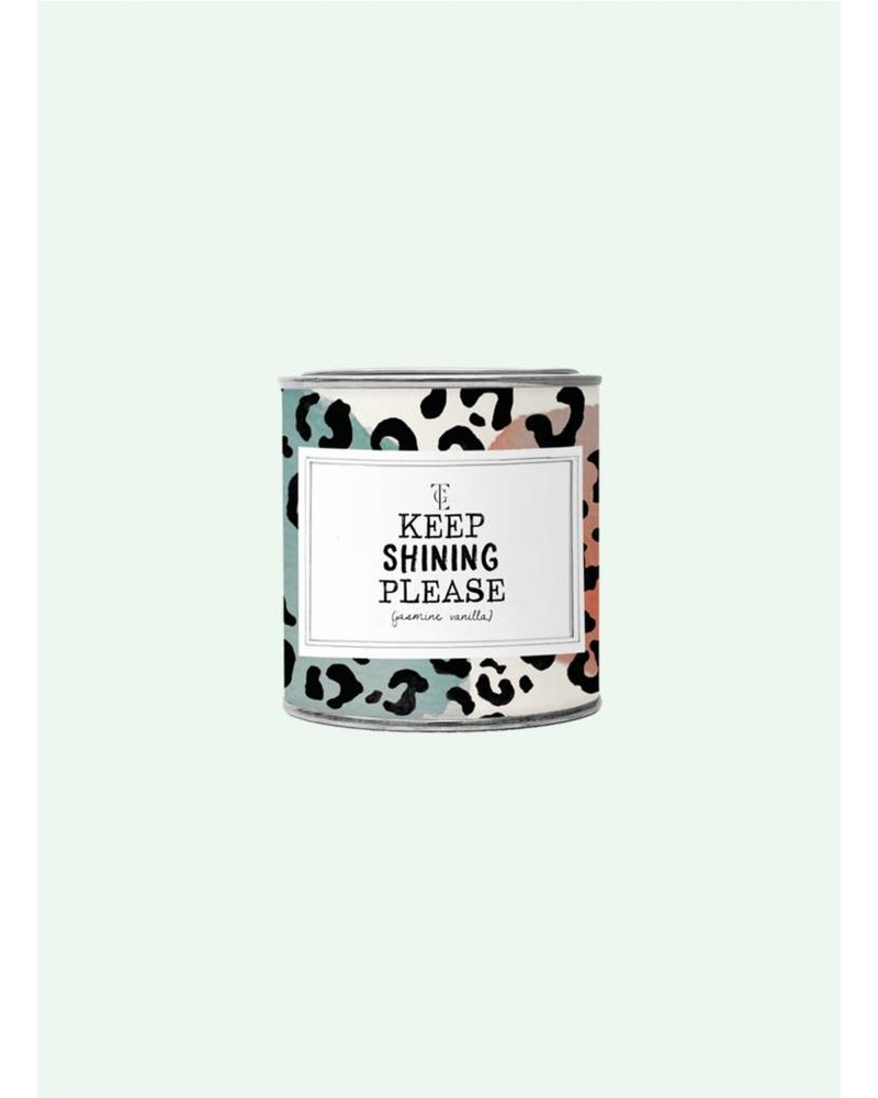 the gift label keep shining please scented candle