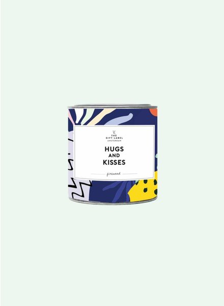 the gift label hugs and kisses geurkaars
