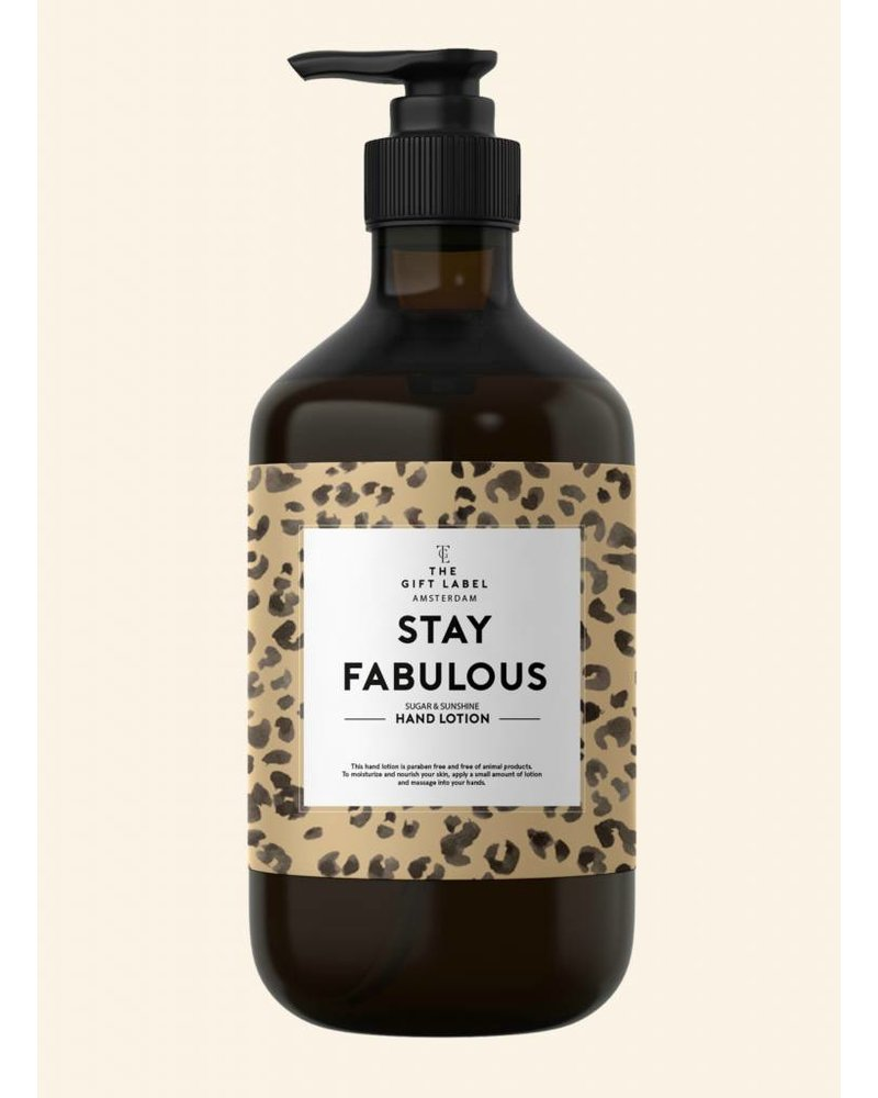 the gift label stay fabulous handlotion