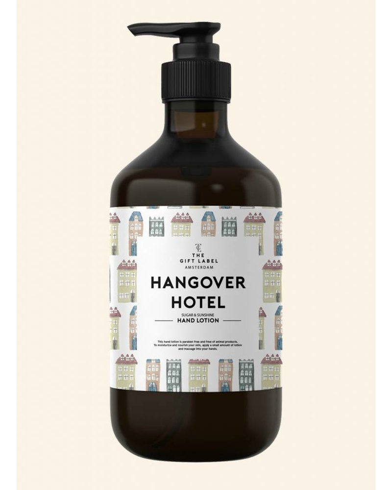 the gift label hangover hotel handlotion