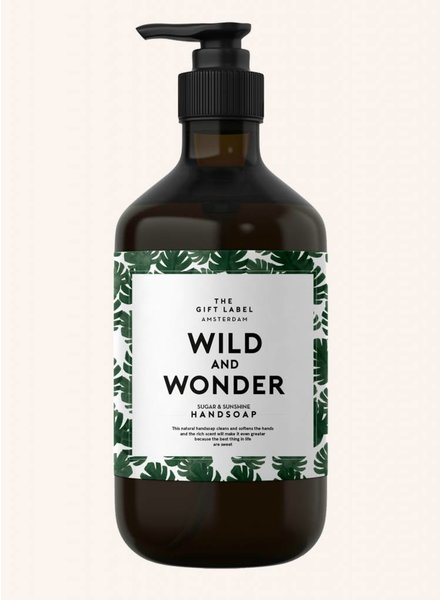 the gift label wild and wonder handsoap