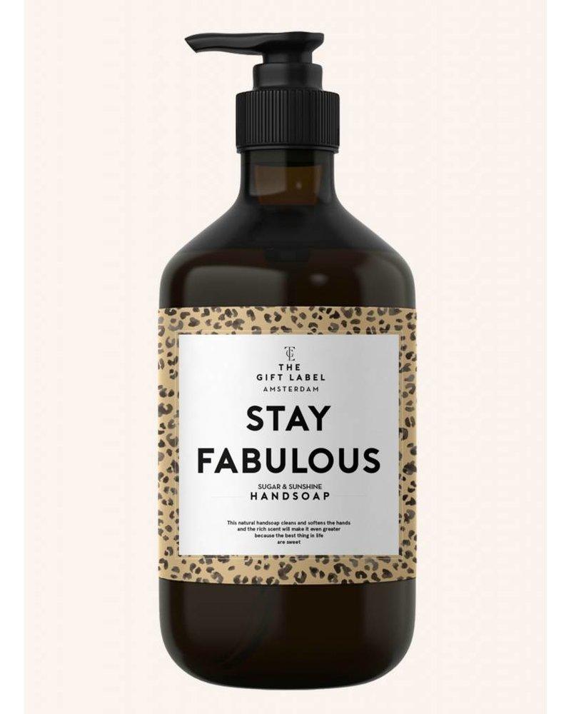 the gift label stay fabulous handzeep