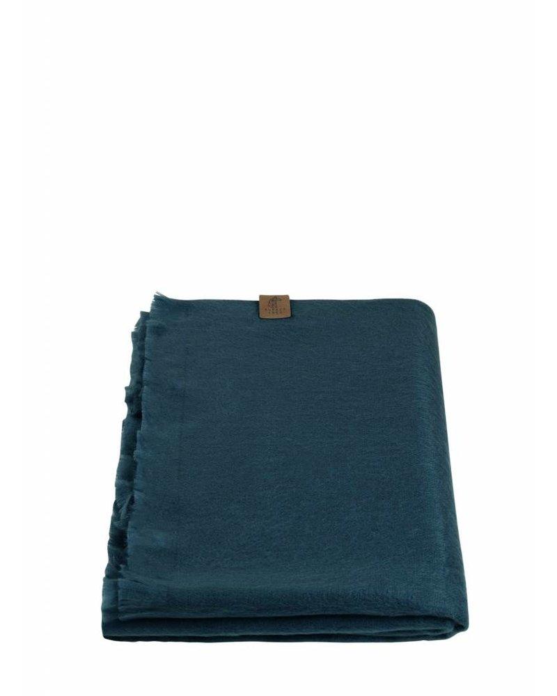 alpacaloca petrol green shawl alpaca