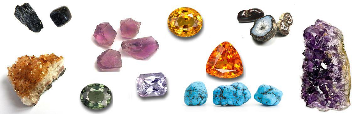 Ruwe edelstenen en mineralen