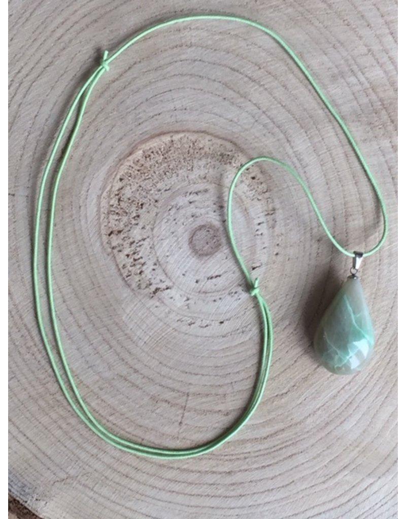 hanger maansteen groen hanger