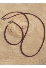 granaat kogel collier met zilver slotje en oogje