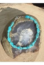 turkoois nugget armband met zilver slotje en oogje