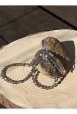 labradoriet collier met zilver slotje en oogje