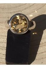 citrien facet ring zilver