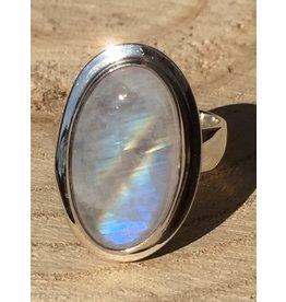 maansteen regenboog ring