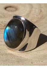 labradoriet ring zilver