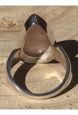 rosekwarts ring zilver