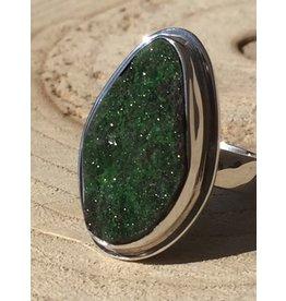 uvaroviet groen granaat kristallen ring