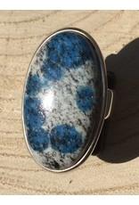 k2 steen ring zilver