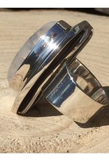 maansteen regenboog ring zilver