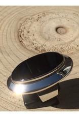 onyx ring zilver