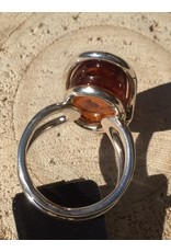 barnsteen ring zilver