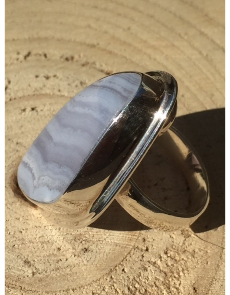 chalcedoon blue lace agaat ring zilver