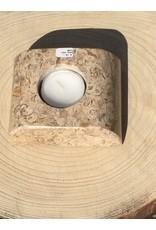 fossiel steen waxine licht