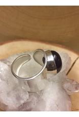amethyst zilver klem ring