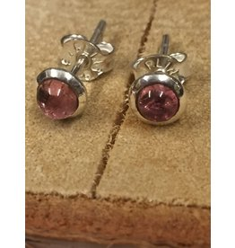 toermalijn roze oorstekers