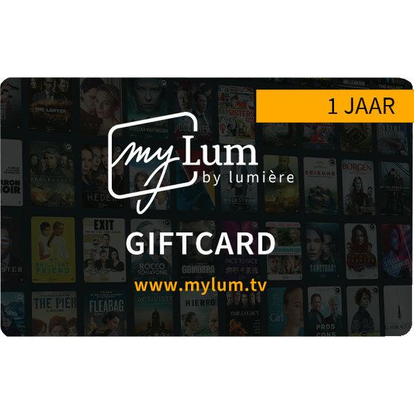 Giftcard 1 jaar  voor myLum