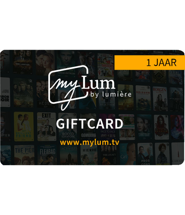 Lumière WWW.MYLUM.TV -  1 jaar Fanformule Giftcard (waarde € 87,89) - LET OP: GEEN DVD