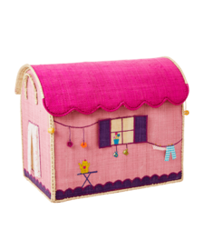 Medium Raffia House Basket