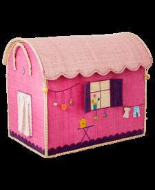 Small Raffia House Basket