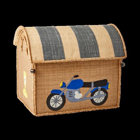 Small Raffia Motorbike Basket