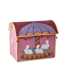 Small Raffia Bunny Basket