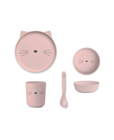Bamboo Set Cat Rose