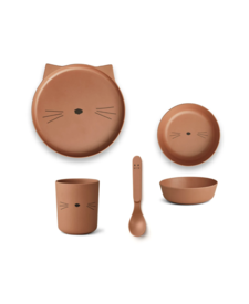 Bamboo Set Cat Terracotta