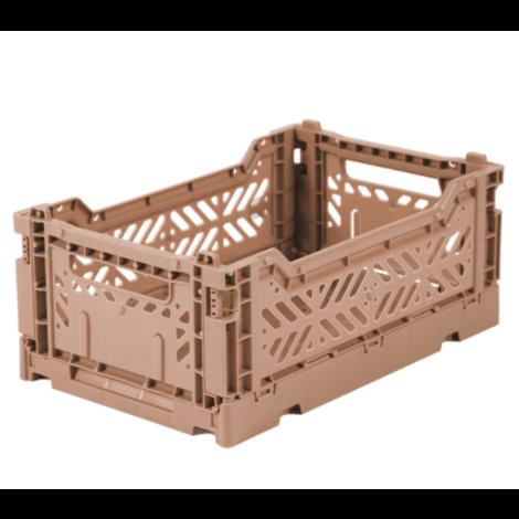 Folding Crates Mini Warm Taupe
