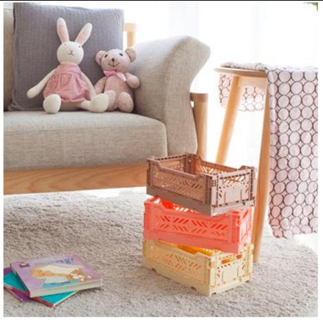 Folding Crates Mini Dark Pink