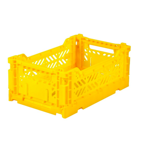 Folding Crates Mini Yellow