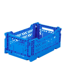 Folding Crates Mini Blue