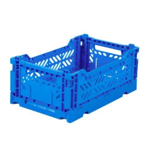 Folding Crates Mini Blue