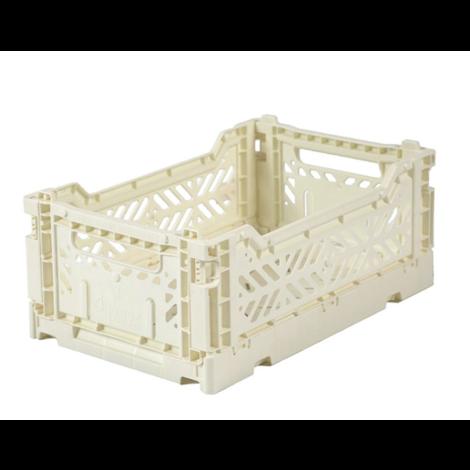Folding Crates Mini Cream
