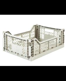 Folding Crates Midi Light Grey
