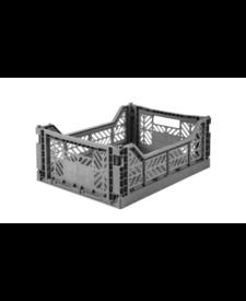 Folding Crates Midi  Grey