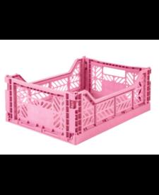 Folding Crates Midi  Pink
