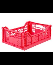 Folding Crates Midi  Dark Pink