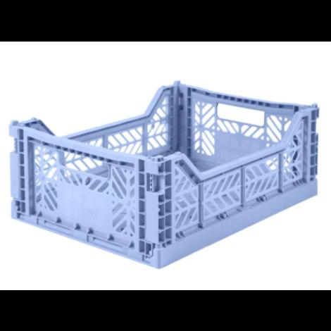 Folding Crates Midi  Baby Blue