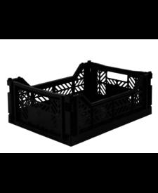 Folding Crates Midi Black