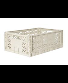 Folding Crates Maxi Light Grey
