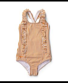 Moa Swimsuit Stripe Mustard
