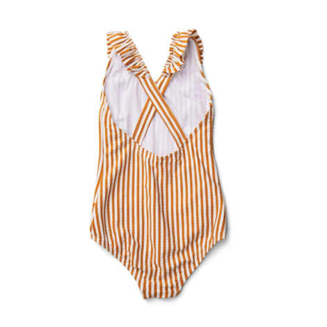 Moa Swimsuit Stripe Mustard