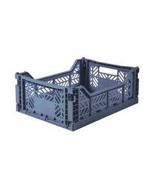 Folding Crates Midi  Cobalt Blue