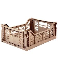 Folding Crates Midi Warm Taupe
